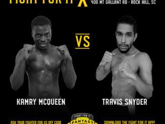 Kamry McQueen (0-0 Eight Points Muay Thai) vs. Travis Snyder (0-0 Modern Warrior)