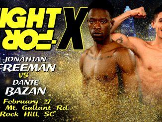jonathan freeman vs. dante bazan